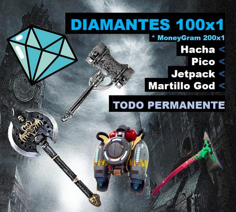 Promocion de diamantes + objetos