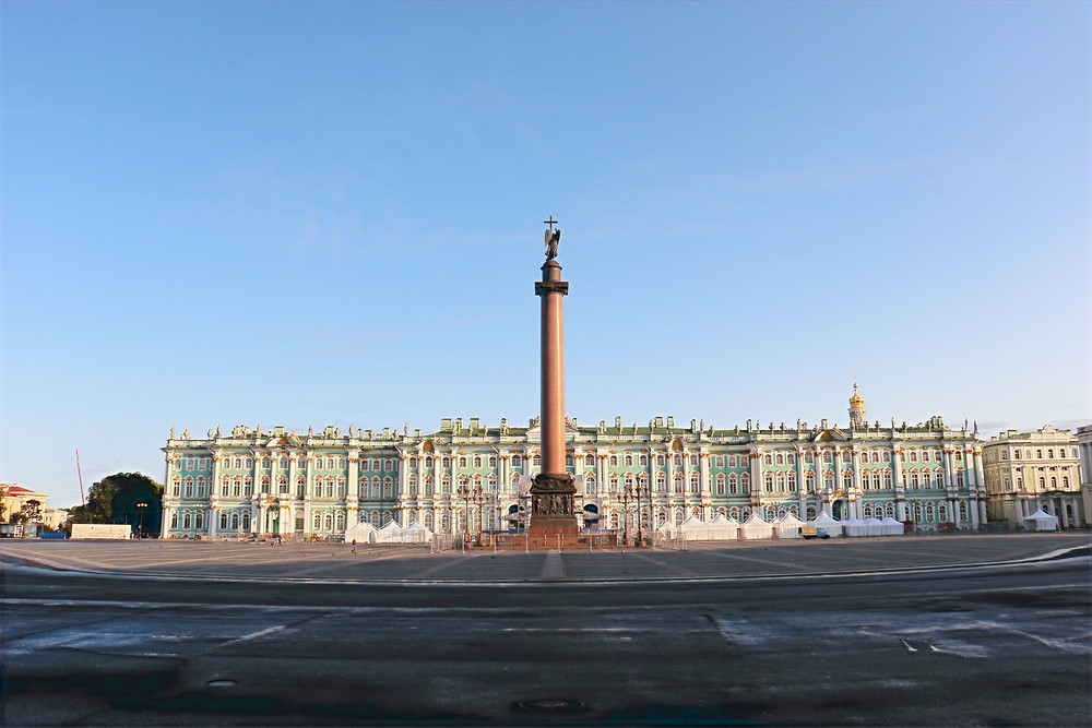 State Hermitage Museum at sunrise st petersburg moscow