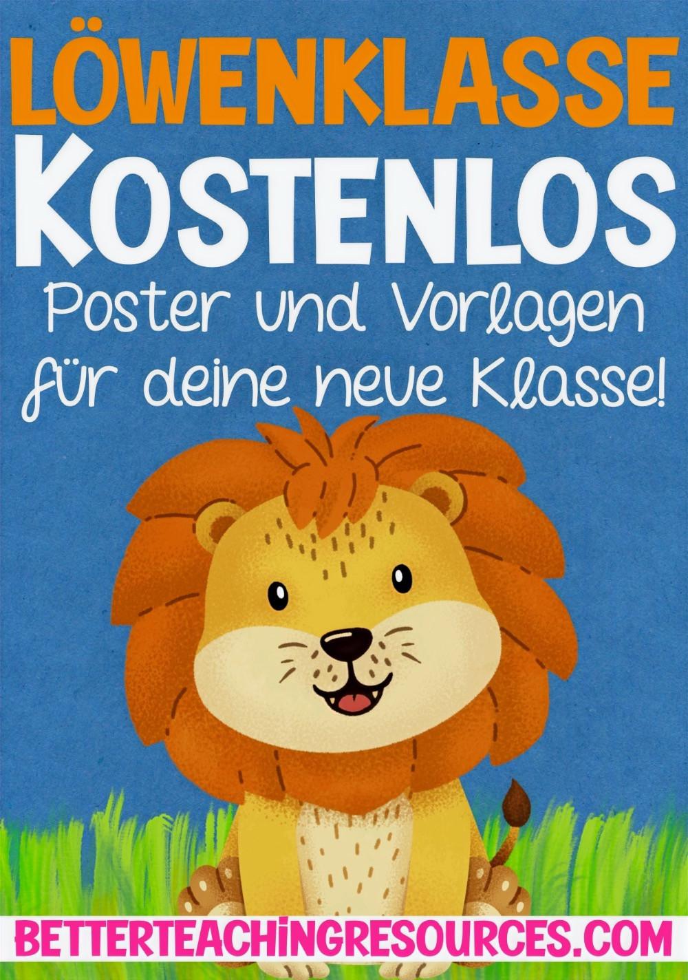 Kostenlos für die Grundschule Löwe - Löwenklasse