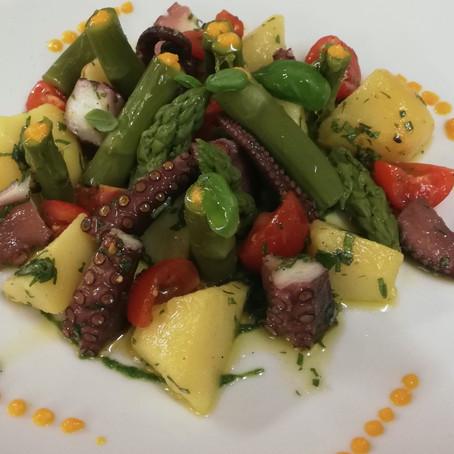Ricetta donata da: Chef Vincenzo Giramma -  Insalata di polpo con verdure croccanti