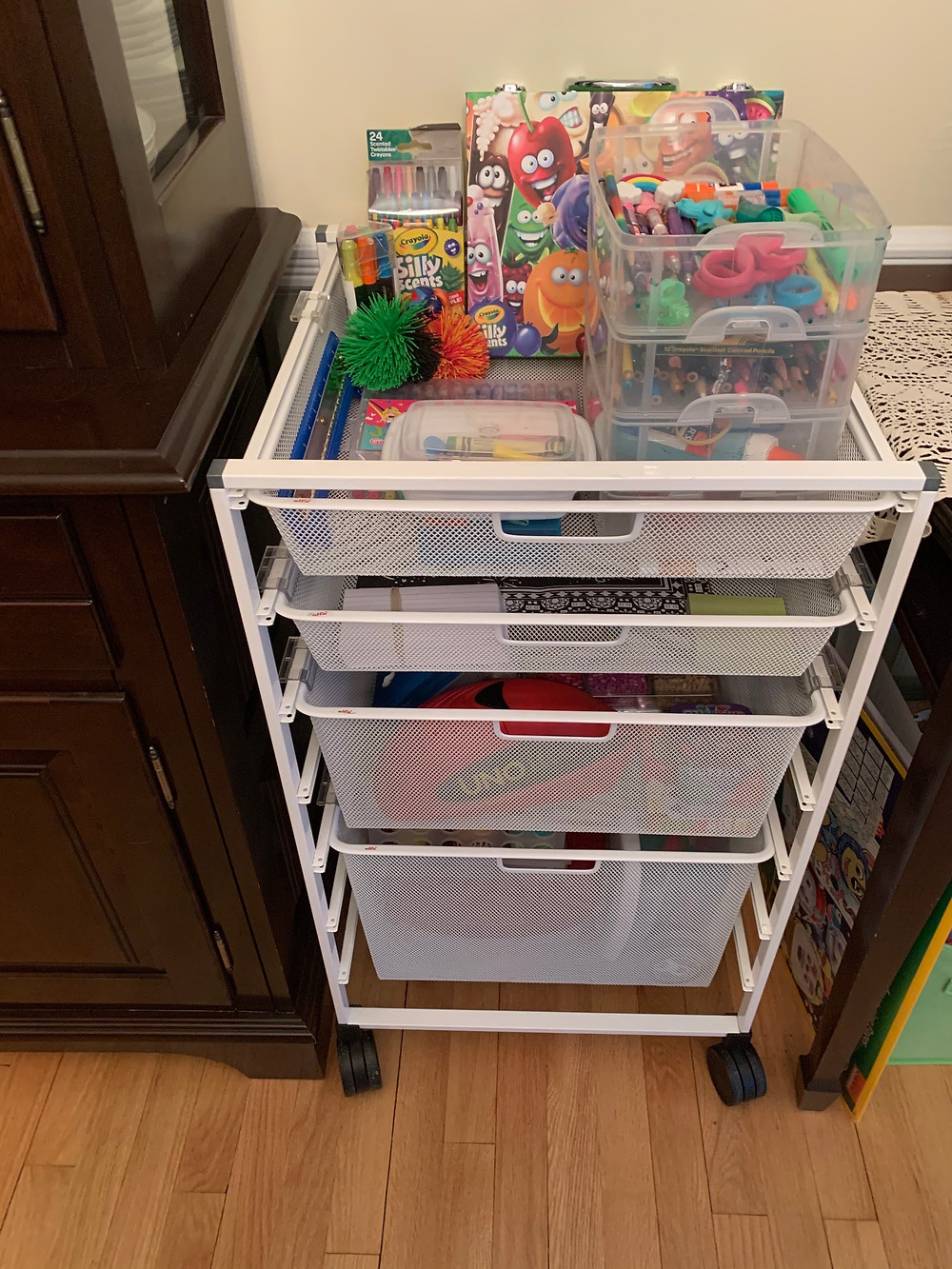 Home school supply station