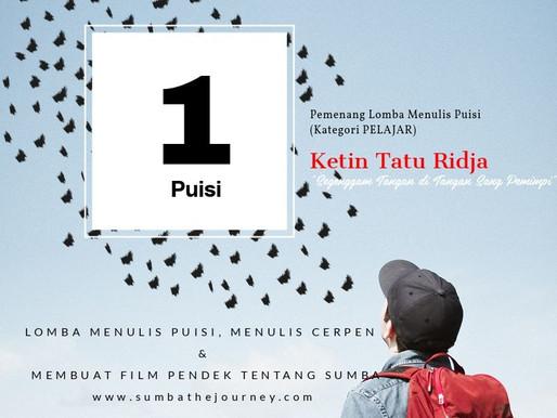 Pengumuman Pemenang Lomba Menulis Puisi, Menulis Cerpen & Membuat Film Pendek 'SumbaMedia HUB 2019'