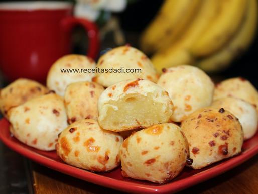 Pão de queijo com batata doce fit