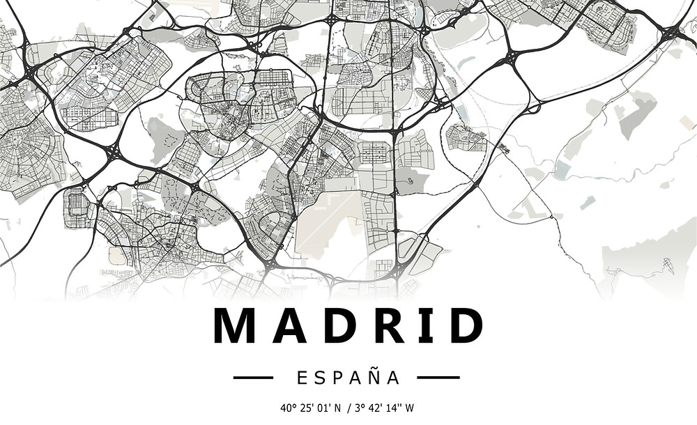 Map of Madrid (South)