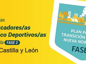 Los educadores físico deportivos ante la fase 2 en Castilla y León