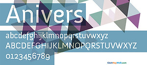 Font Anivers Free