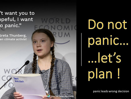 Do not panic and let's plan!