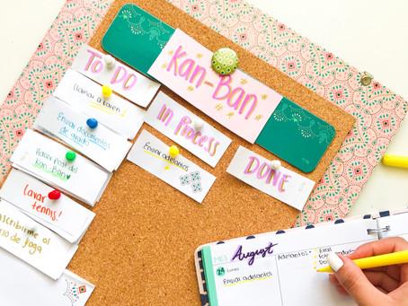 El Kan Ban cómo herramienta para organizar tu vida.