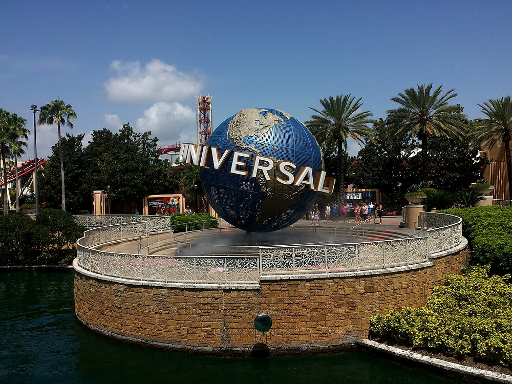 Universal Studios globe in front of CityWalk in Orlando, Florida