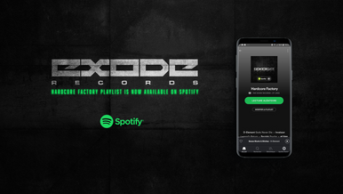 Hardcore Factory playlist available on Spotify