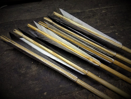 Set of medieval light military arrows