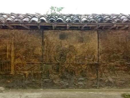 El mural Retazos de mi pueblo