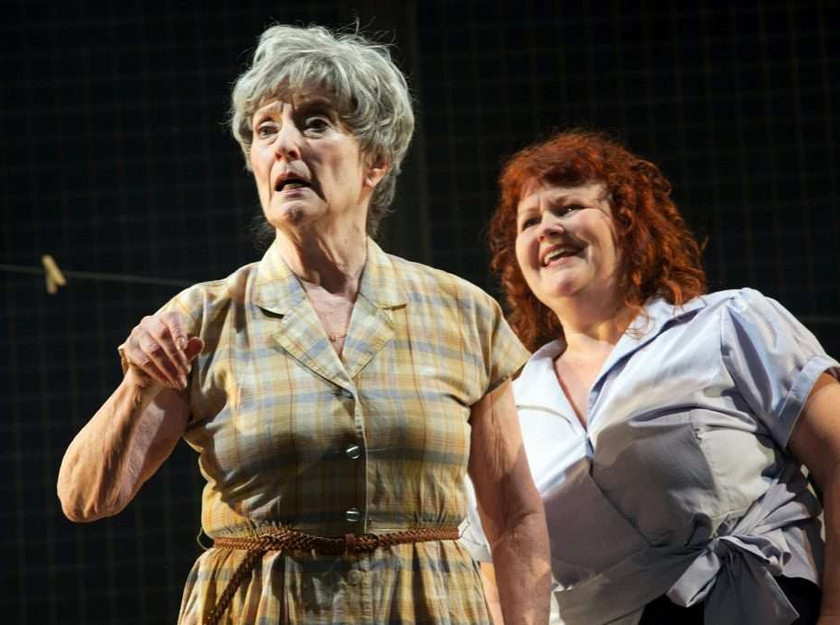 Judith Paris and Lisa Burrows (r) in My Mother Said I Never Should at Oldham Coliseum