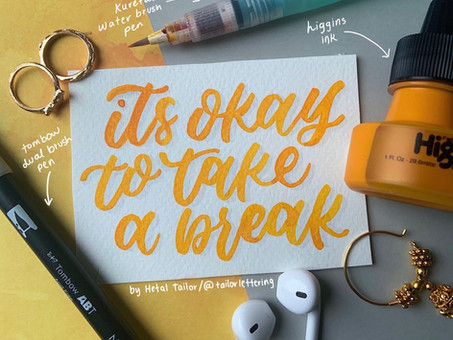 Creative Breaks | Take a Moment Before you Re-dip