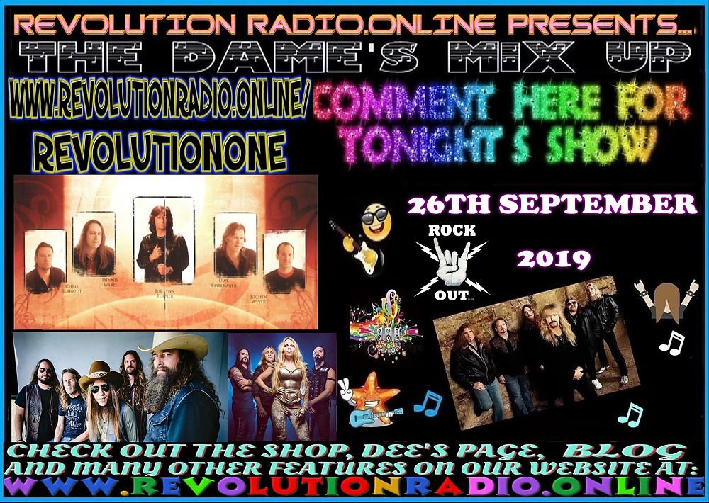 the dames mix up on Revolution Radio