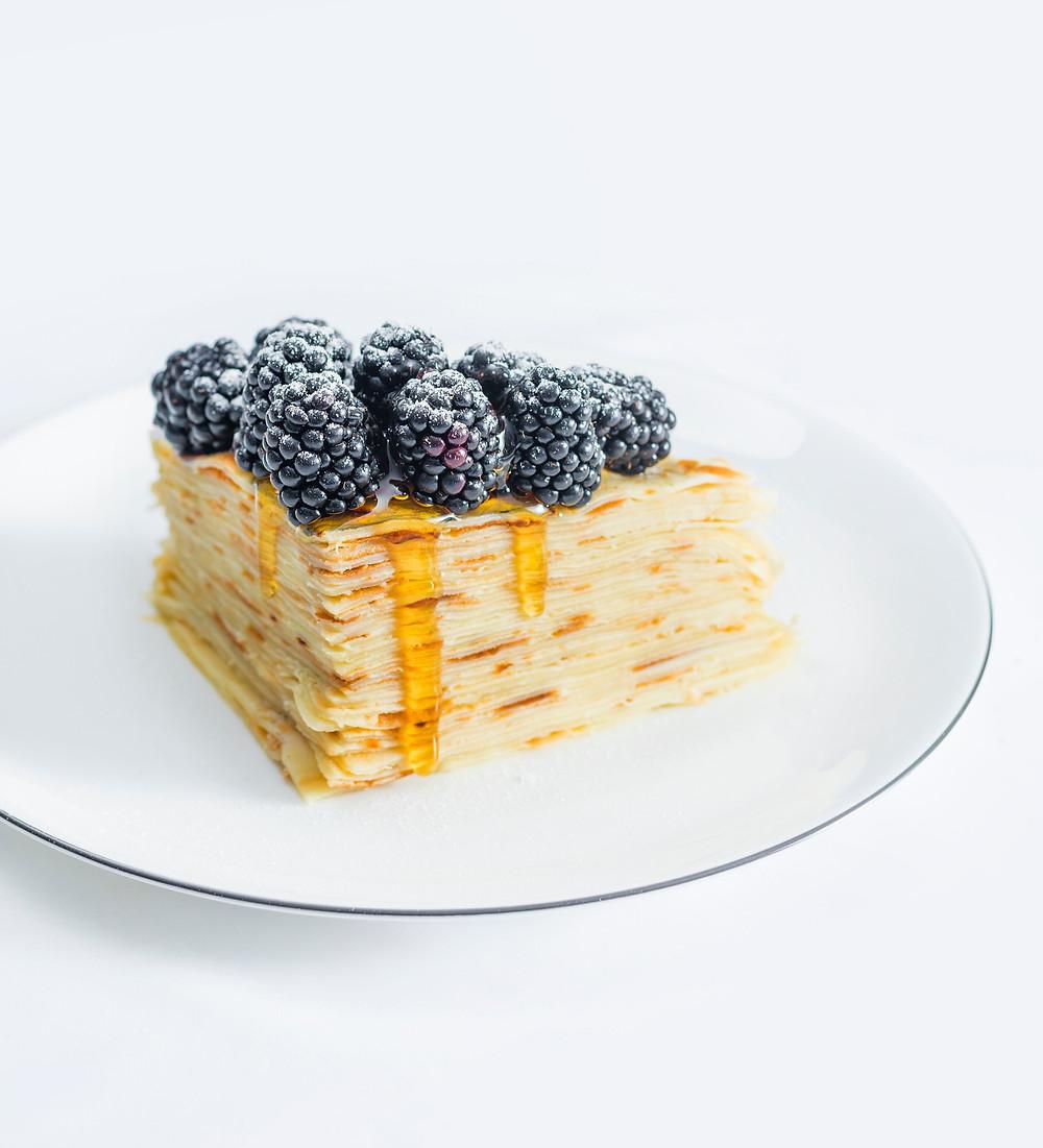 Lietinių tortas, medumi perteptas lietinių tortas, lėtieji pusryčiai, Alfo receptai