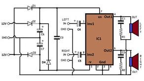 L31, 30W Stereo Power Amplifier TDA1521