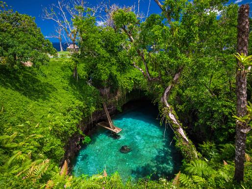 """""""To Sua Ocean Trench"""" aux Iles Samoa en Polynésie"""