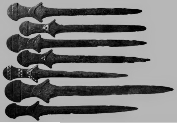 This image is of the first swords ever