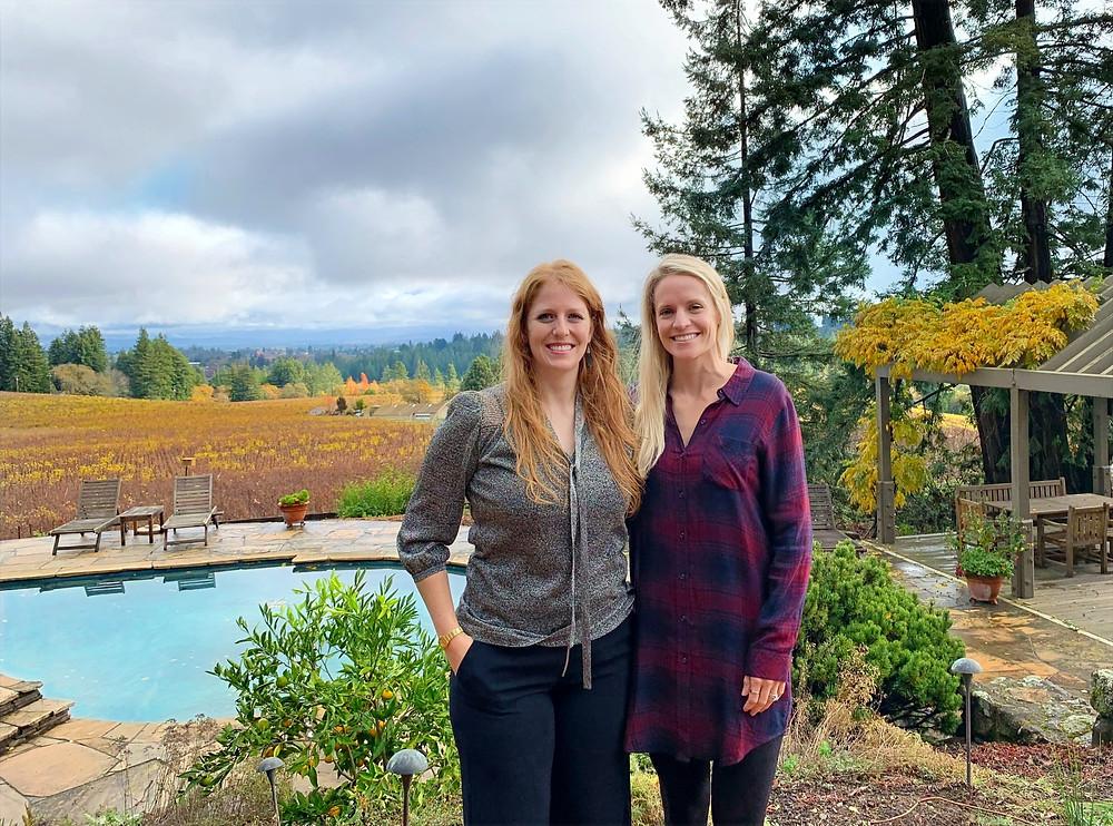 Cristina Torres and Shannon Gartner of Blonde Tasting at Marimar Estate. Blonde Tasting photo.