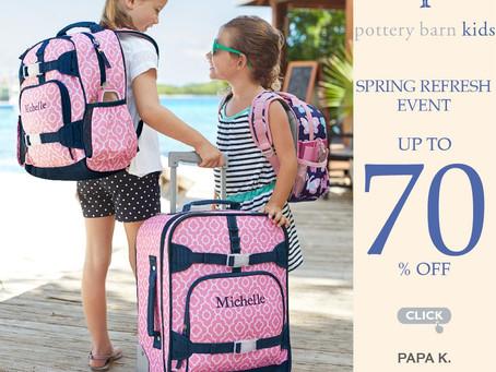 美國媽媽推薦Pottery Barn kids兒童嬰幼兒品牌。最高三折起