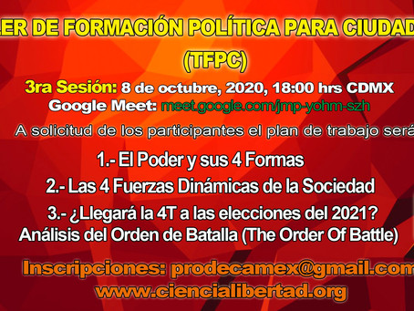 Tercera Sesión: Taller de Formación Política para Ciudadanos.