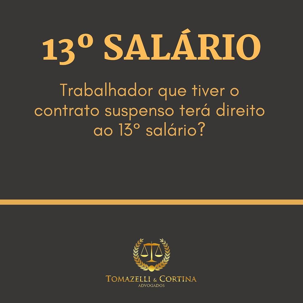 13º salario  contrato suspenso