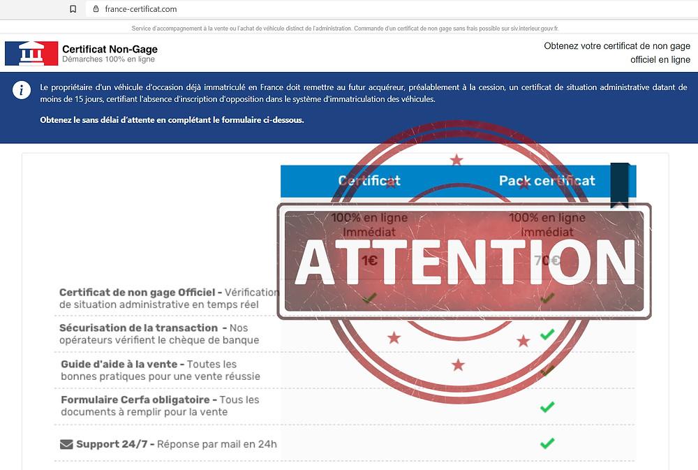 france-certificat AVIS