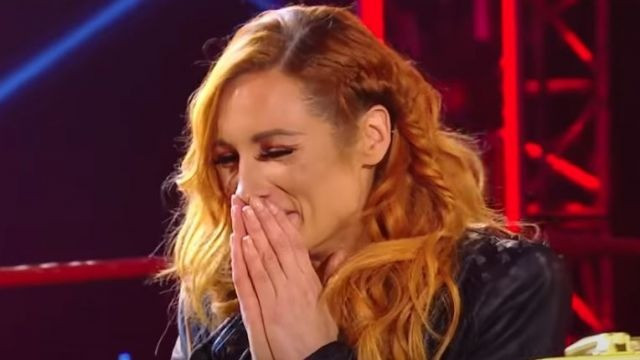 The emotional reveal of Becky's pregnancy live on RAW.