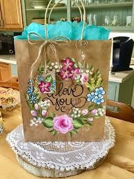 Being Seen To Be Green: Week 3 Recycle: Painted Paper Bags