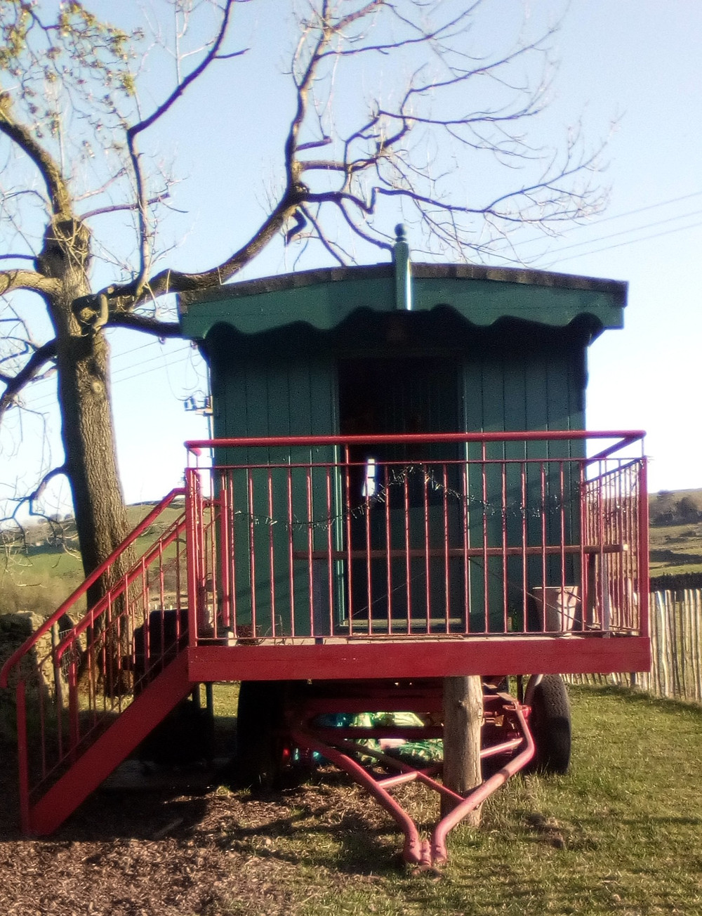 Rural shepherd's hut in the Peak District national park