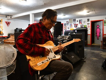 Fender Telecaster Signed by 16 Navajo Code Talkers