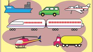 Sopa de letras: Medios de transporte