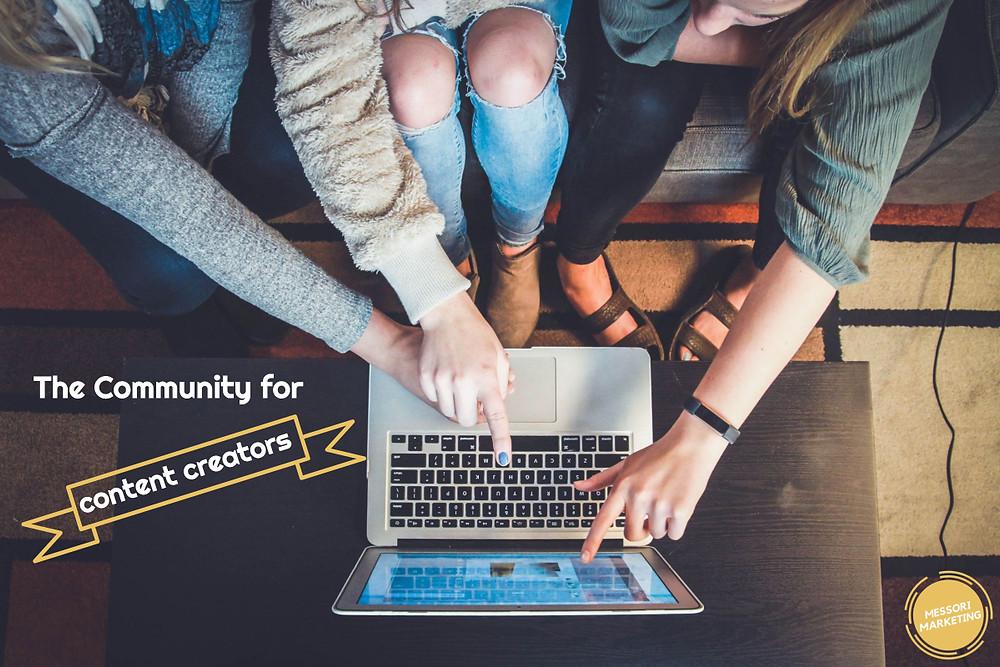 Online Community for content creators