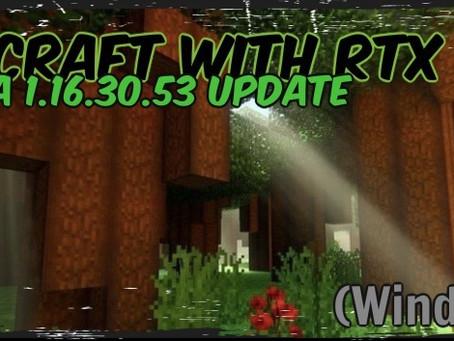 Minecraft with RTX Beta - 1.16.30.53 (Windows 10)