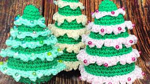 Dekorative Weihnachtsbäumchen - Häkeln                     (Kostenlose Anleitung)