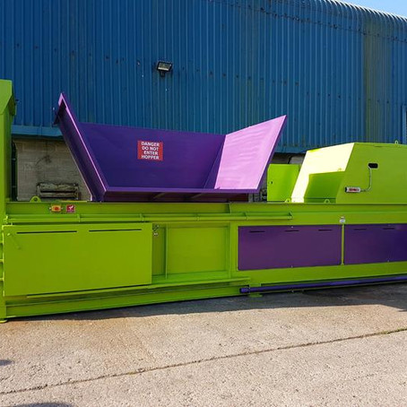 Numatic International Invest in a new paper baler, Barry the Baler!