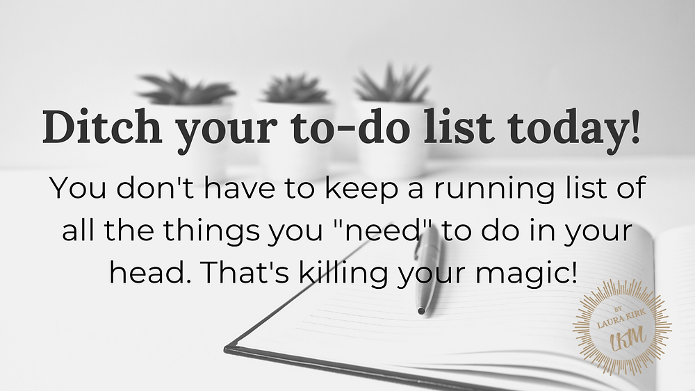 Follow these few easy action steps to ditch your to-do list and start getting more done!