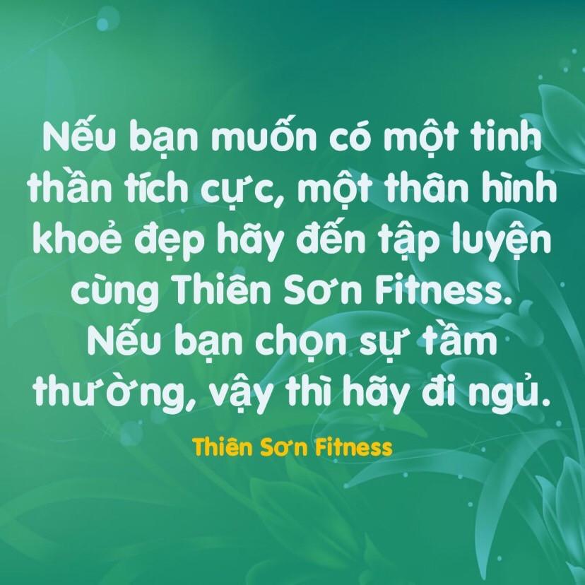 Tập luyện cùng Thiên Sơn Fitness