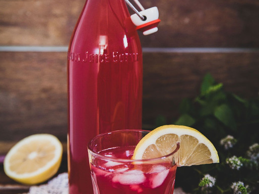 Rhubarb & Mint Iced Tea