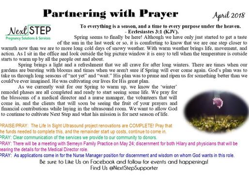 April Prayer Card