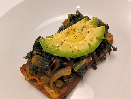 Avocado Toast with Sauteed Greens