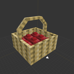 More Blox Minecraft Mod Beetroot Basket
