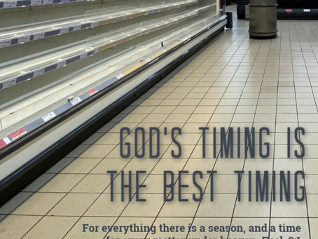 God's perfect timing for transition