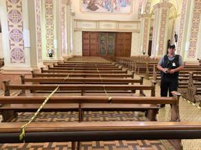 Santuário Santo Antônio dispõe de medidas sanitárias para receber fiéis nos momentos de oração