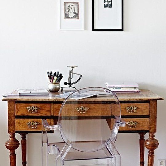 Mix antiques with modern
