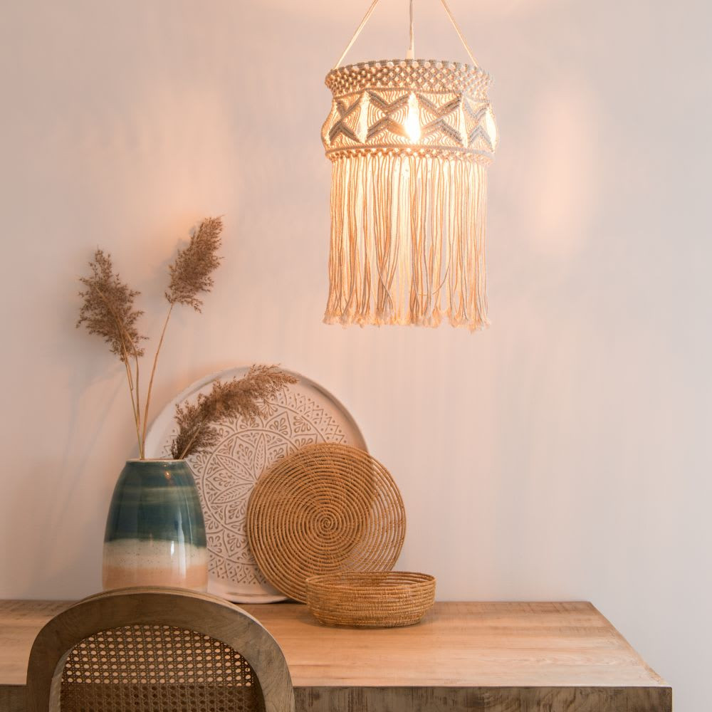 makrame pendant light bedroom bohemian