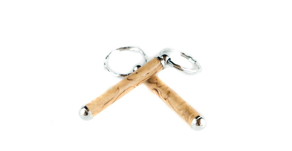 Handmade Wooden Keychain, Birch Keychain, Handcrafted Keyring