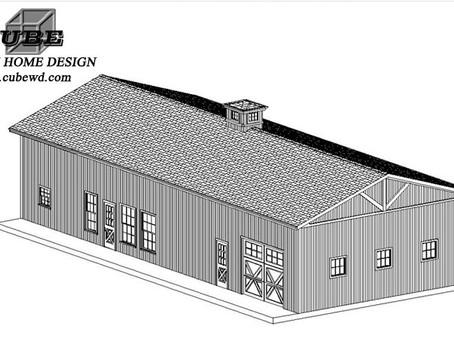 #Barndominium House Plan-BRN-10