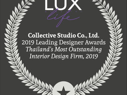 2019 Leading Designer Awards Thailand's Most Outstanding Interior Design Firm @Lux Life magazine